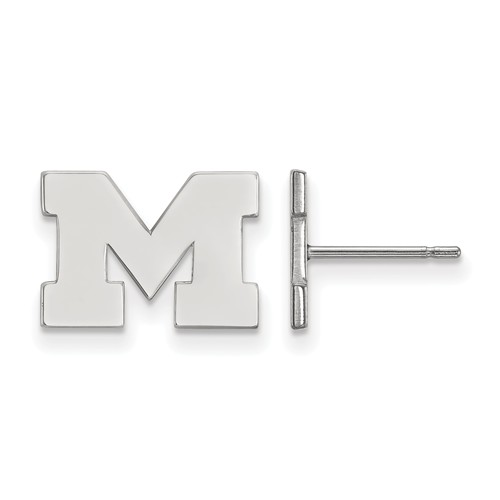 Sterling Silver University of Michigan Extra Small Post Earrings