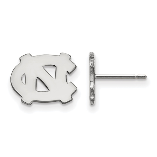 Sterling Silver University of North Carolina Extra Small Post Earrings