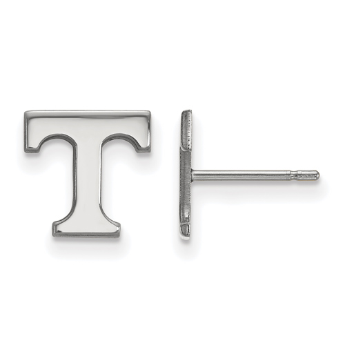 10kt White Gold University of Tennessee T Extra Small Post Earrings