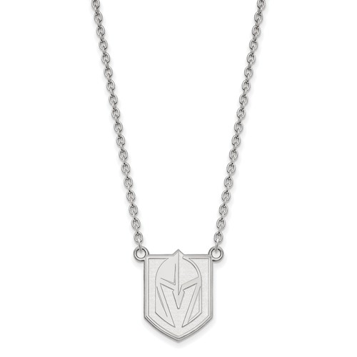 Vegas Golden Knights Logo Necklace 3/4in Sterling Silver