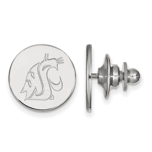 Sterling Silver Washington State University Lapel Pin