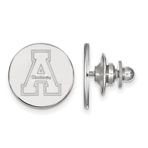 Appalachian State University Lapel Pin Sterling Silver