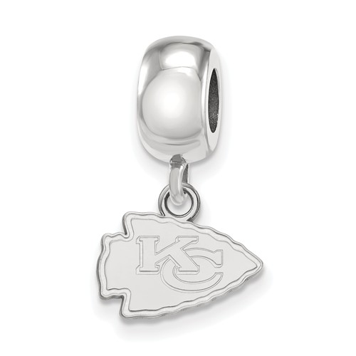 Sterling Silver Kansas City Chiefs Extra Small Dangle Bead