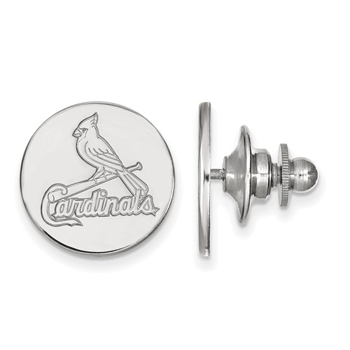Sterling Silver St. Louis Cardinals Lapel Pin