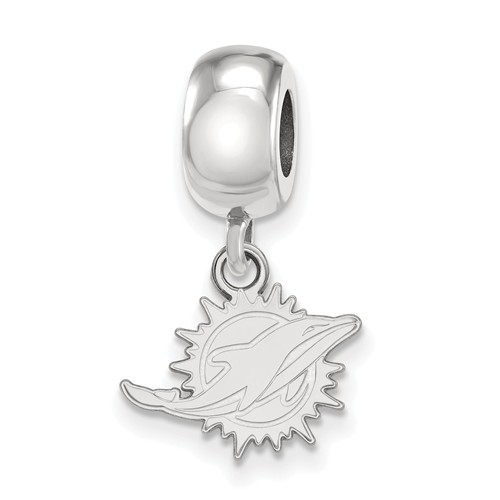 Sterling Silver Miami Dolphins Extra Small Dangle Bead