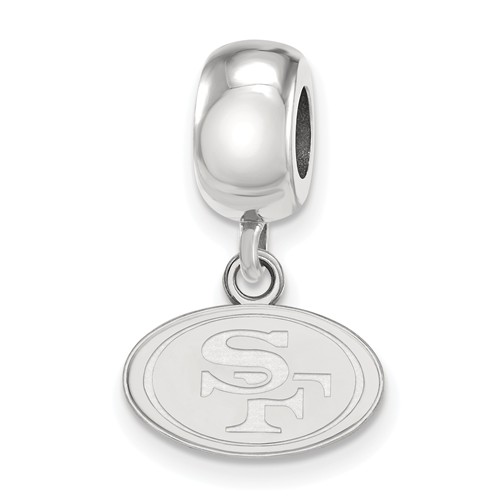 Sterling Silver San Francisco 49ers Extra Small Dangle Bead
