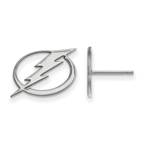 14k White Gold Tampa Bay Lightning Post Earrings