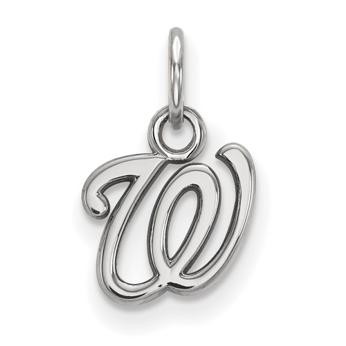 Sterling Silver 3/8in Washington Nationals W Pendant