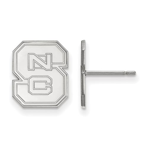 Sterling Silver North Carolina State University Logo Small Post Earrings