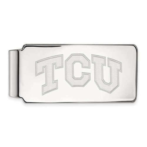 Sterling Silver Texas Christian University Money Clip