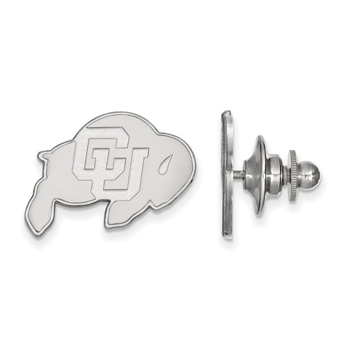University of Colorado Buffalo Lapel Pin Sterling Silver
