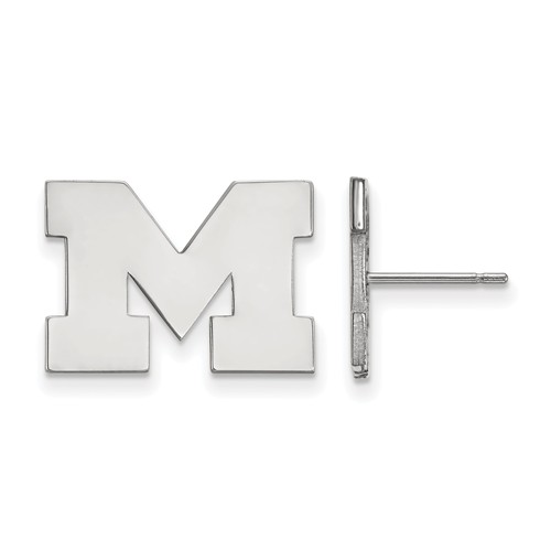 Sterling Silver University of Michigan M Small Post Earrings