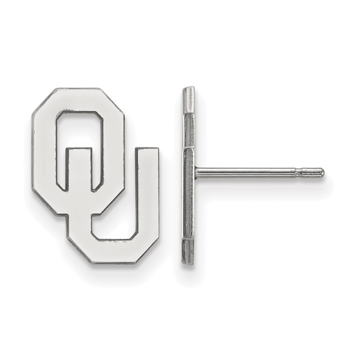 Sterling Silver University of Oklahoma OU Small Post Earrings