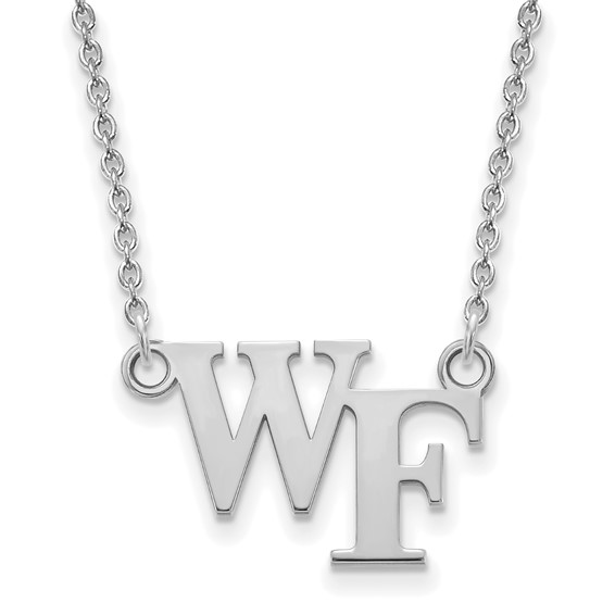 Wake Forest University WF Necklace 10k White Gold