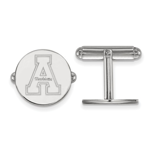 Appalachian State University Cuff Links Sterling Silver