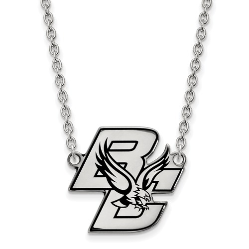 Sterling Silver Boston College Enamel Necklace