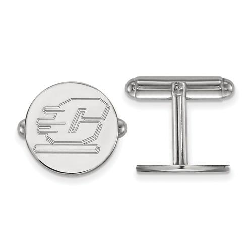 Central Michigan University Cuff Links Sterling Silver