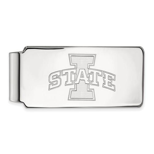 Iowa State University Money Clip 10k White Gold