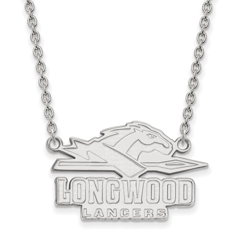 Sterling Silver Longwood University Lancers Pendant with 18in Chain