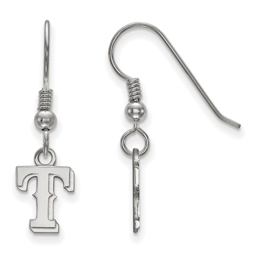 Sterling Silver Extra Small Texas Rangers T Dangle Earrings