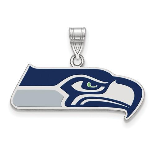 Seattle Seahawks Enamel Pendant Sterling Silver