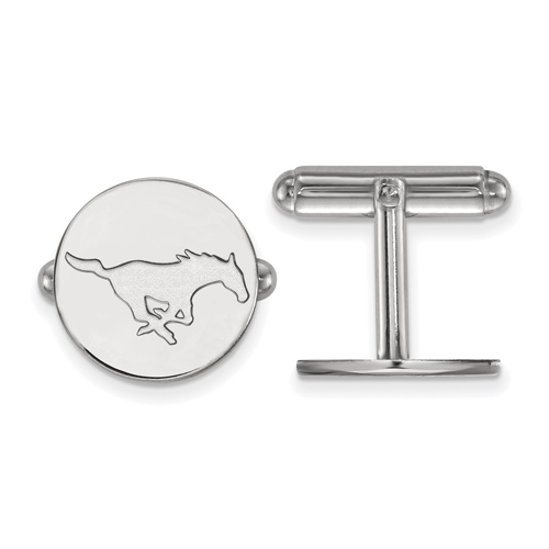 Southern Methodist University Cuff Links Sterling Silver