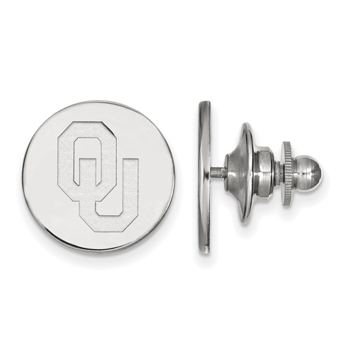 Sterling Silver University of Oklahoma Lapel Pin