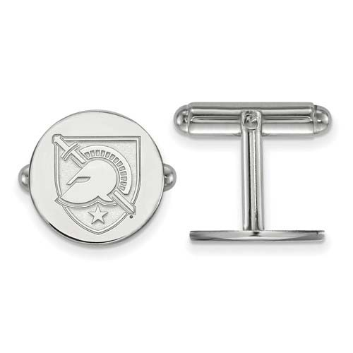 Sterling Silver United States Military Academy Round Cuff Links