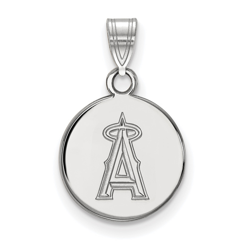 Sterling Silver 1/2in Round Los Angeles Angels Pendant