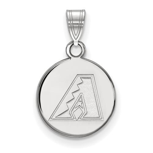 Sterling Silver 3/8in Arizona Diamondbacks Round Pendant