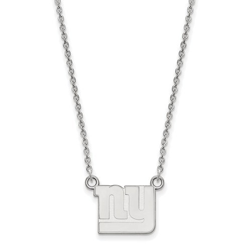 Sterling Silver Small New York Giants Pendant with 18in Chain
