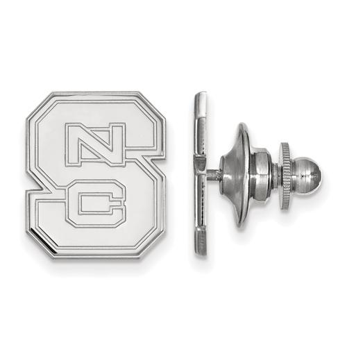 Sterling Silver North Carolina State University Block S Lapel Pin