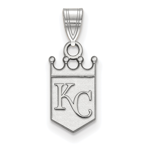 Sterling Silver 5/8in Kansas City Royals Crown Pendant