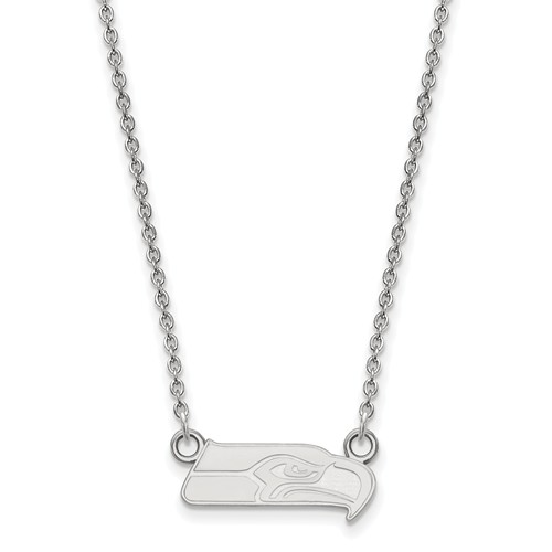 Sterling Silver Small Seattle Seahawks Pendant with 18in Chain