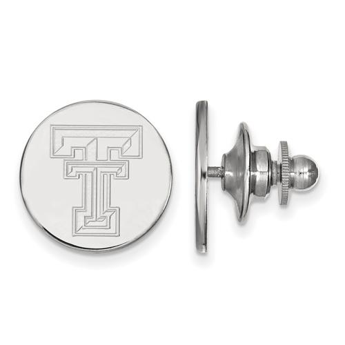 Sterling Silver Texas Tech University Lapel Pin