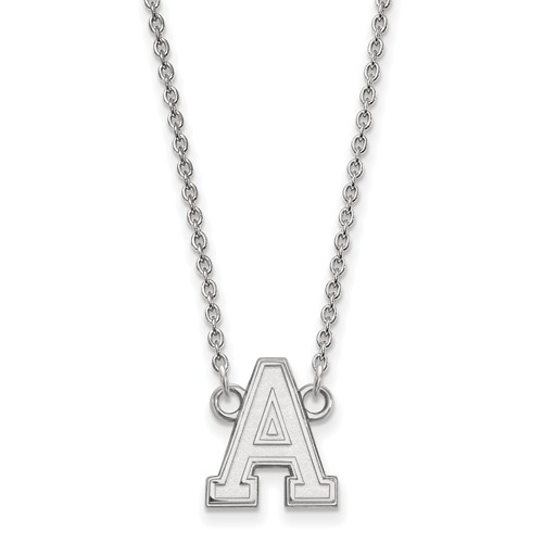 United States Military Academy Pendant on Necklace 10k White Gold