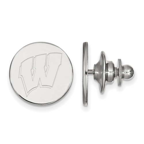 Sterling Silver University of Wisconsin Lapel Pin