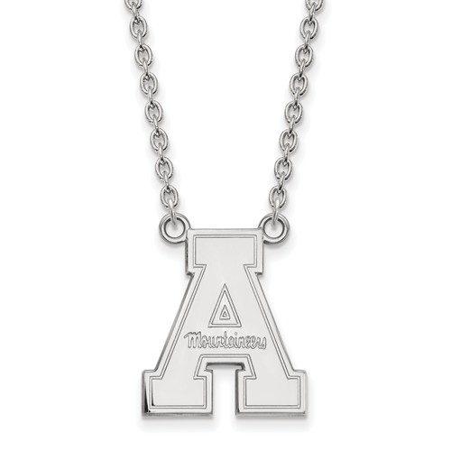 Appalachian State University Pendant on 18in Chain Sterling Silver
