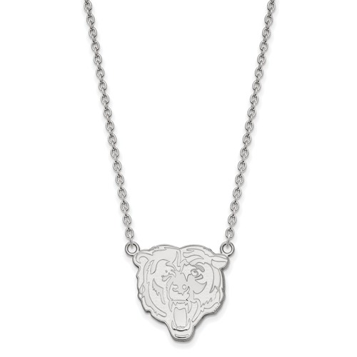 Chicago Bears Pendant Necklace Sterling Silver