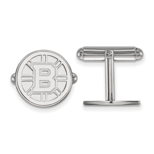 Boston Bruins Round Cuff Links Sterling Silver