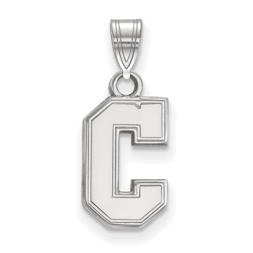 College of Charleston C Pendant 1/2in 14k White Gold