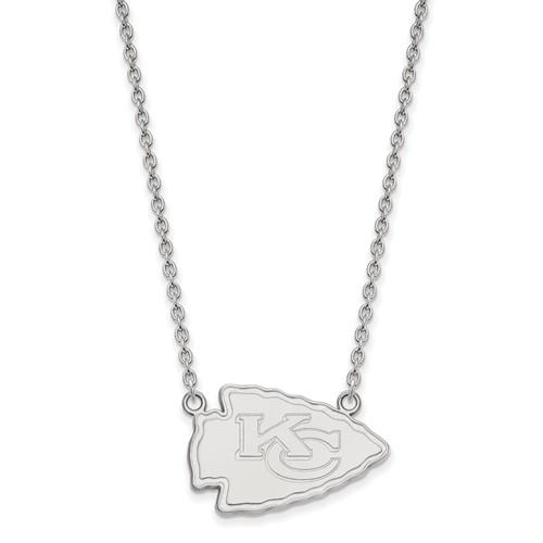 Kansas City Chiefs Pendant Necklace Sterling Silver