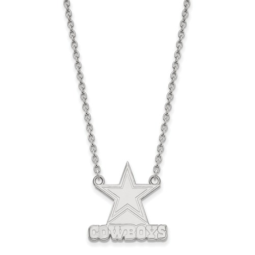 Dallas Cowboys Pendant Necklace Sterling Silver