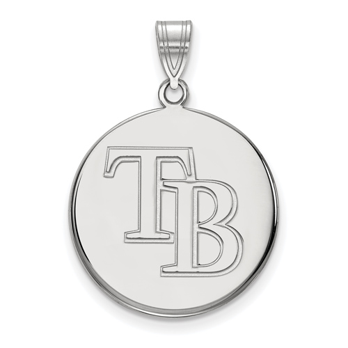 Sterling Silver 3/4in Tampa Bay Rays Pendant