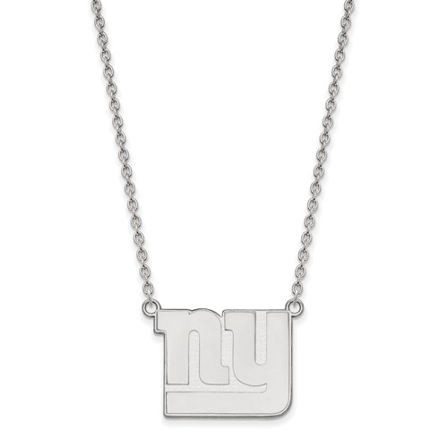 New York Giants Pendant Necklace Sterling Silver