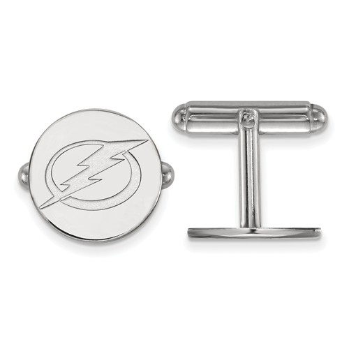 Tampa Bay Lightning Round Cuff Links Sterling Silver