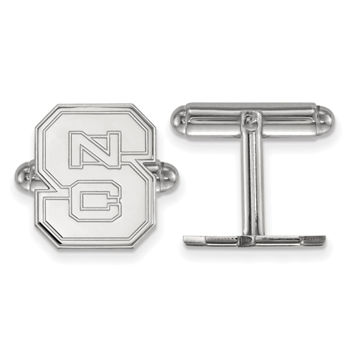 Sterling Silver North Carolina State University Block S Cuff Links