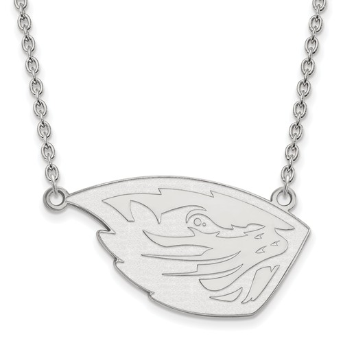 Sterling Silver Oregon State University Logo Pendant with 18in Chain