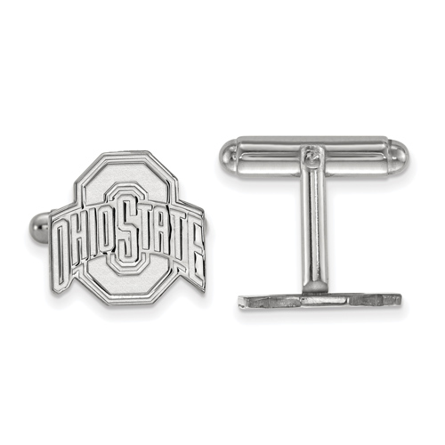 Sterling Silver Ohio State University Cuff Links