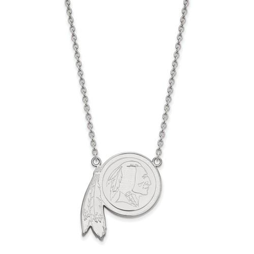 Washington Redskins Pendant Necklace Sterling Silver